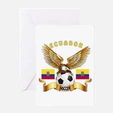 Ecuador Football Design Greeting Card