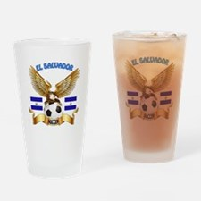 El Salvador Football Design Drinking Glass