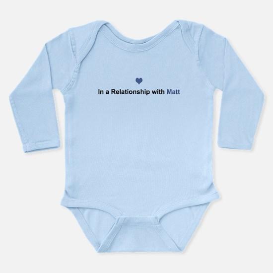 Matt Relationship Long Sleeve Infant Bodysuit