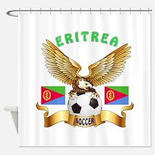 Eritrea Football Design Shower Curtain