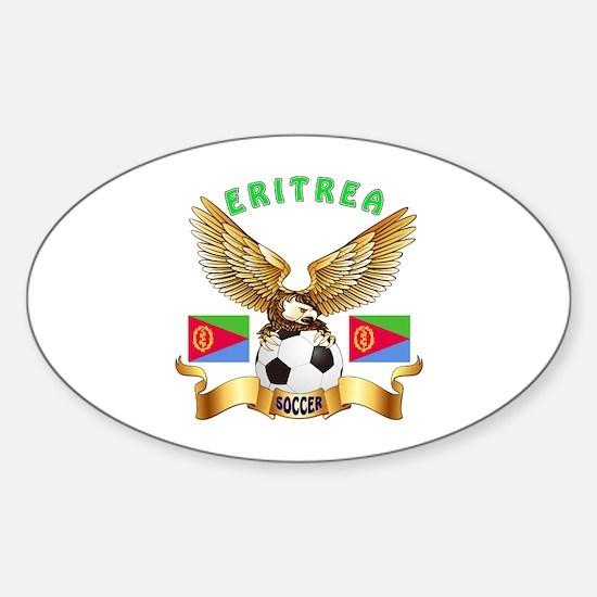 Eritrea Football Design Sticker (Oval)