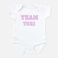 Pink team Tori Infant Bodysuit