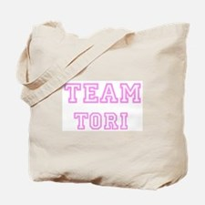 Pink team Tori Tote Bag