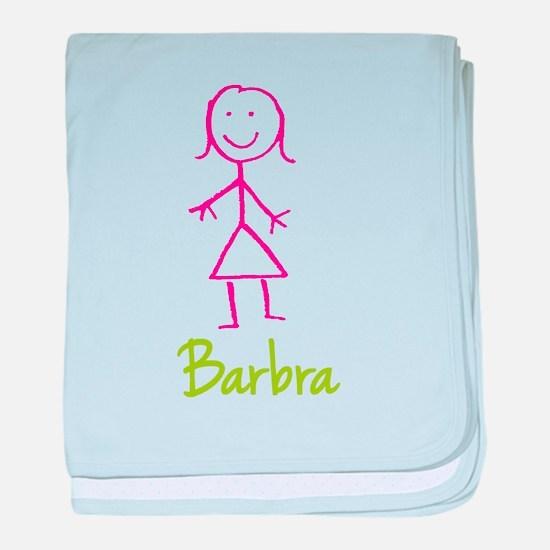 Barbra-cute-stick-girl.png baby blanket