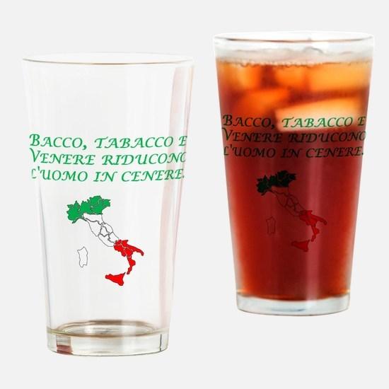 Italian Proverb Wine Women Tobacco Drinking Glass