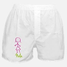 Nola-cute-stick-girl.png Boxer Shorts