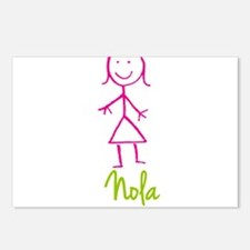 Nola-cute-stick-girl.png Postcards (Package of 8)