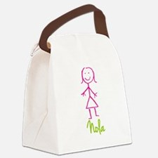 Nola-cute-stick-girl.png Canvas Lunch Bag
