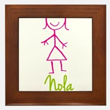 Nola-cute-stick-girl.png Framed Tile