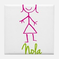 Nola-cute-stick-girl.png Tile Coaster