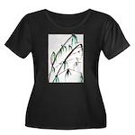 Bamboo Women's Plus Size Scoop Neck Dark T-Shirt