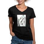 Bamboo Women's V-Neck Dark T-Shirt