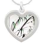 Bamboo Silver Heart Necklace
