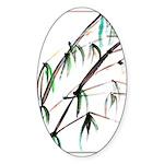 Bamboo Sticker (Oval 50 pk)