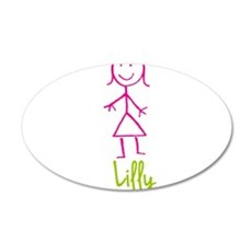 Lilly-cute-stick-girl.png Wall Decal
