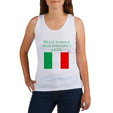 Italian Proverb Fine Words Women's Tank Top