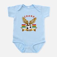 Ghana Football Design Infant Bodysuit