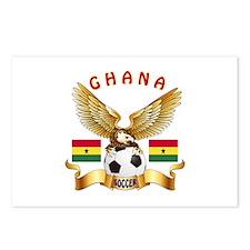 Ghana Football Design Postcards (Package of 8)