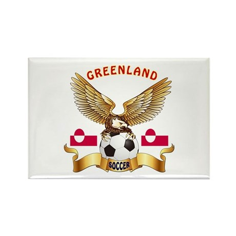Greenland Football Design Rectangle Magnet (100 pa
