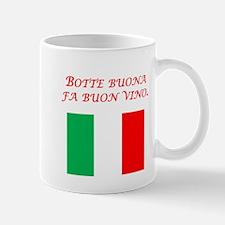 Italian Proverb Good Wine Mug