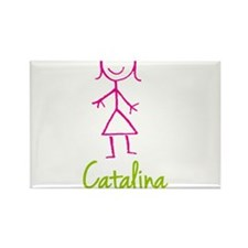 Catalina-cute-stick-girl.png Rectangle Magnet (100