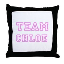 Pink team Chloe Throw Pillow