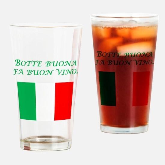 Italian Proverb Good Wine Drinking Glass