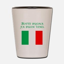 Italian Proverb Good Wine Shot Glass