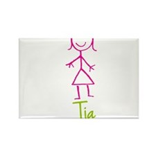 Tia-cute-stick-girl.png Rectangle Magnet (100 pack