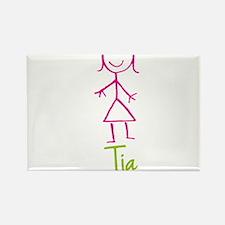 Tia-cute-stick-girl.png Rectangle Magnet