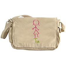 Tia-cute-stick-girl.png Messenger Bag