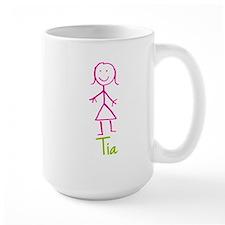 Tia-cute-stick-girl.png Ceramic Mugs