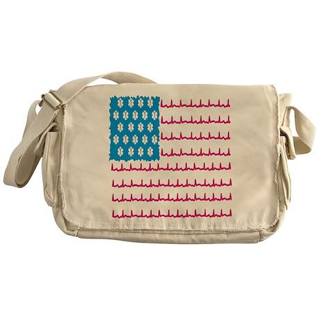 EMS flag Messenger Bag