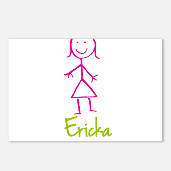 Ericka-cute-stick-girl.png Postcards (Package of 8