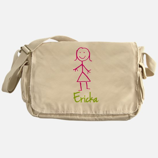 Ericka-cute-stick-girl.png Messenger Bag