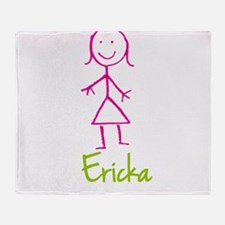 Ericka-cute-stick-girl.png Throw Blanket