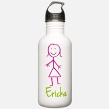 Ericka-cute-stick-girl.png Water Bottle