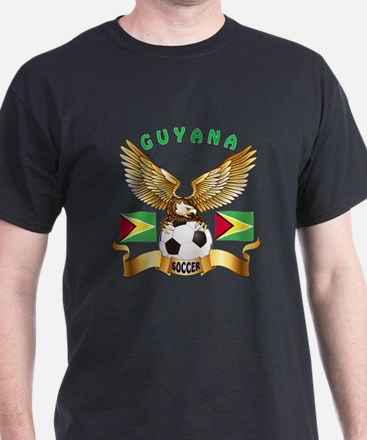 Guyana Football Design T-Shirt