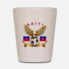 Haiti Football Design Shot Glass