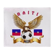 Haiti Football Design Throw Blanket