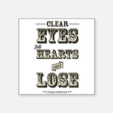 """Cute Clear eyes full hearts Square Sticker 3"""" x 3"""""""