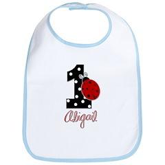 1 Ladybug - ABIGAIL - Birthday Custom Bib