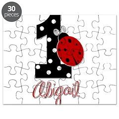 1 Ladybug - ABIGAIL - Birthday Custom Puzzle