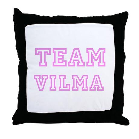Pink team Vilma Throw Pillow