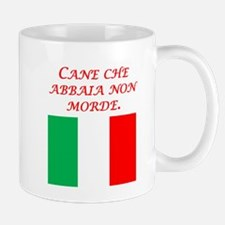 Italian Proverb Dog That Barks Mug