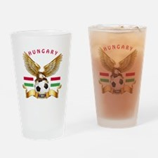Hungary Football Design Drinking Glass