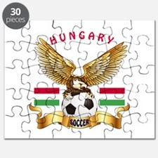 Hungary Football Design Puzzle
