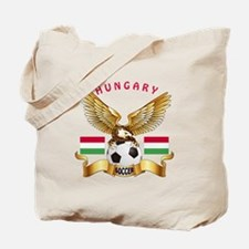 Hungary Football Design Tote Bag