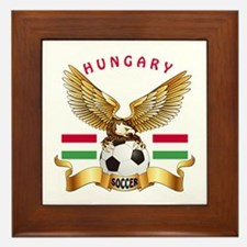 Hungary Football Design Framed Tile