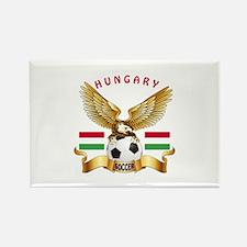 Hungary Football Design Rectangle Magnet